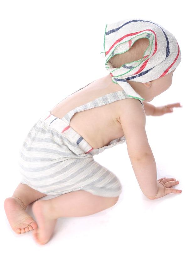 Mia Bu Milano - Baby Boy Salopette Righe